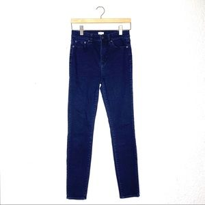 J. Crew blue dark rinse high rise skinny jeans